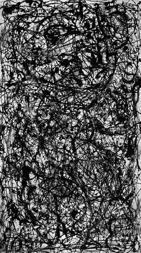 Jackson Pollock, Black and White Abstract