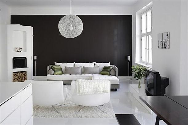 Ideas for black and white design - luscious sophisticated black-and-white-interior